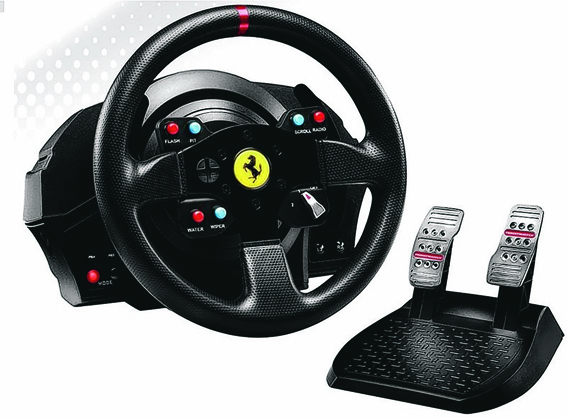 Experience driving games as they were designed to be with the Thrustmaster T300 GTE