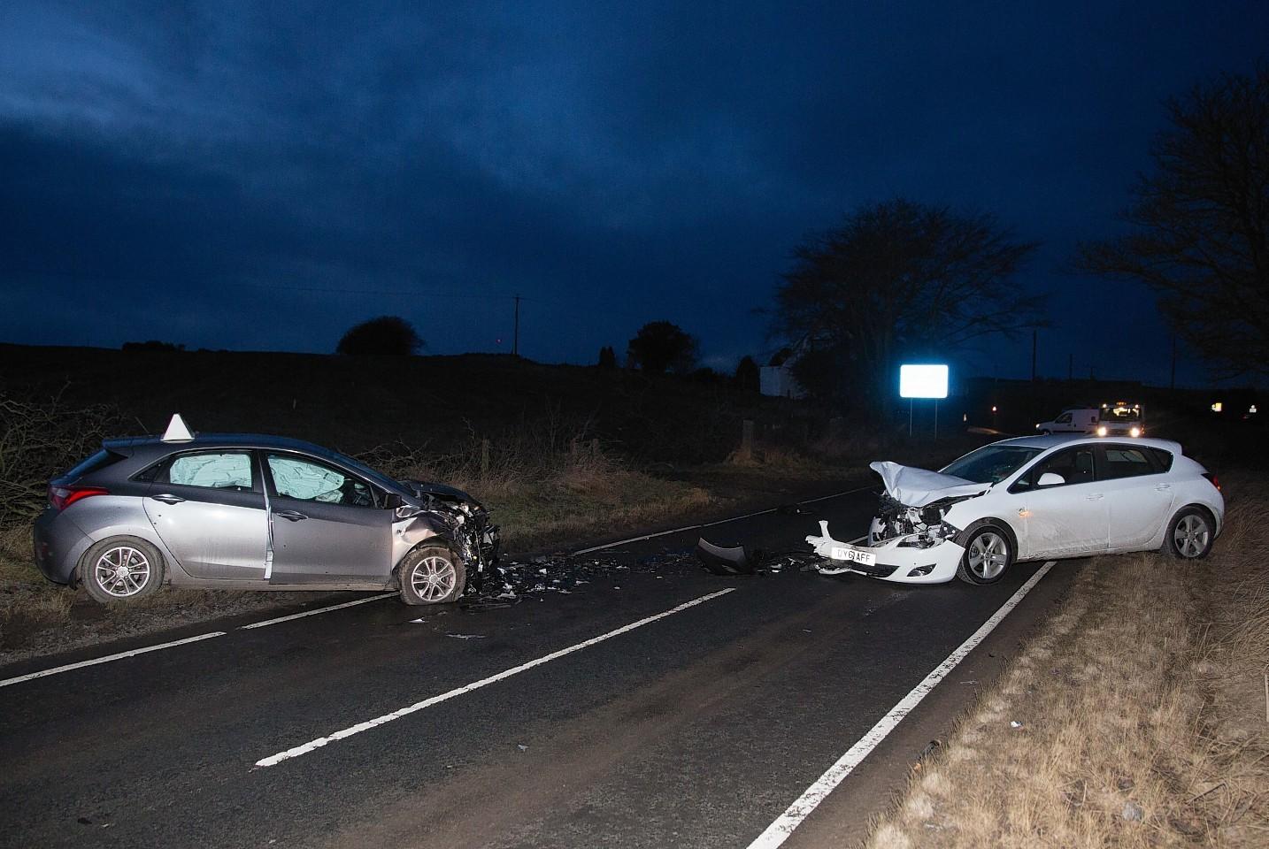 The two car crash near Potterton