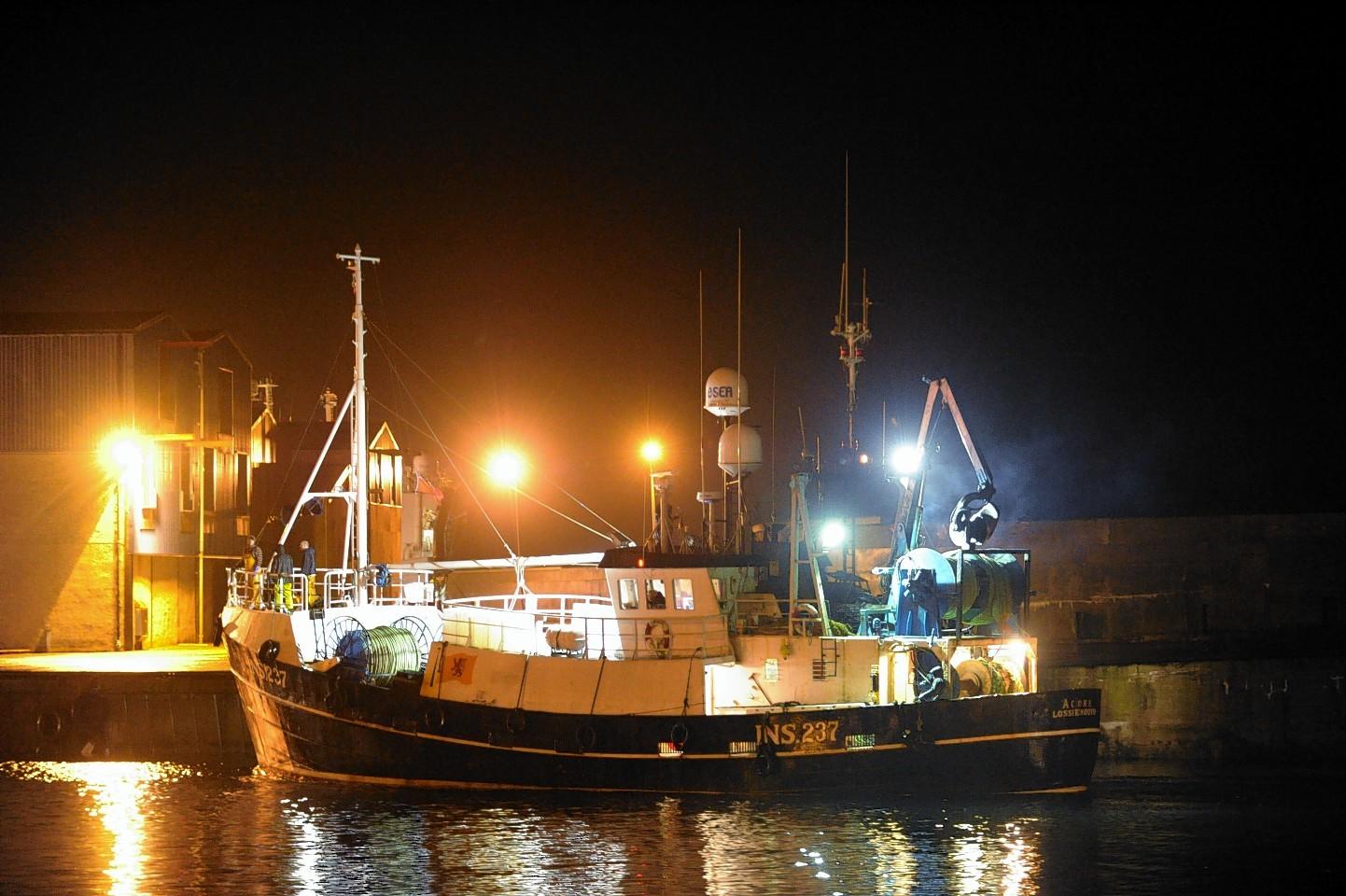 The Acorn arrived at Fraserburgh last night