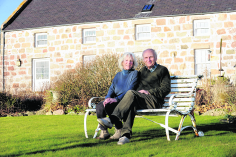 Mary and Simon Welfare at Easter Davoch, in Tarland