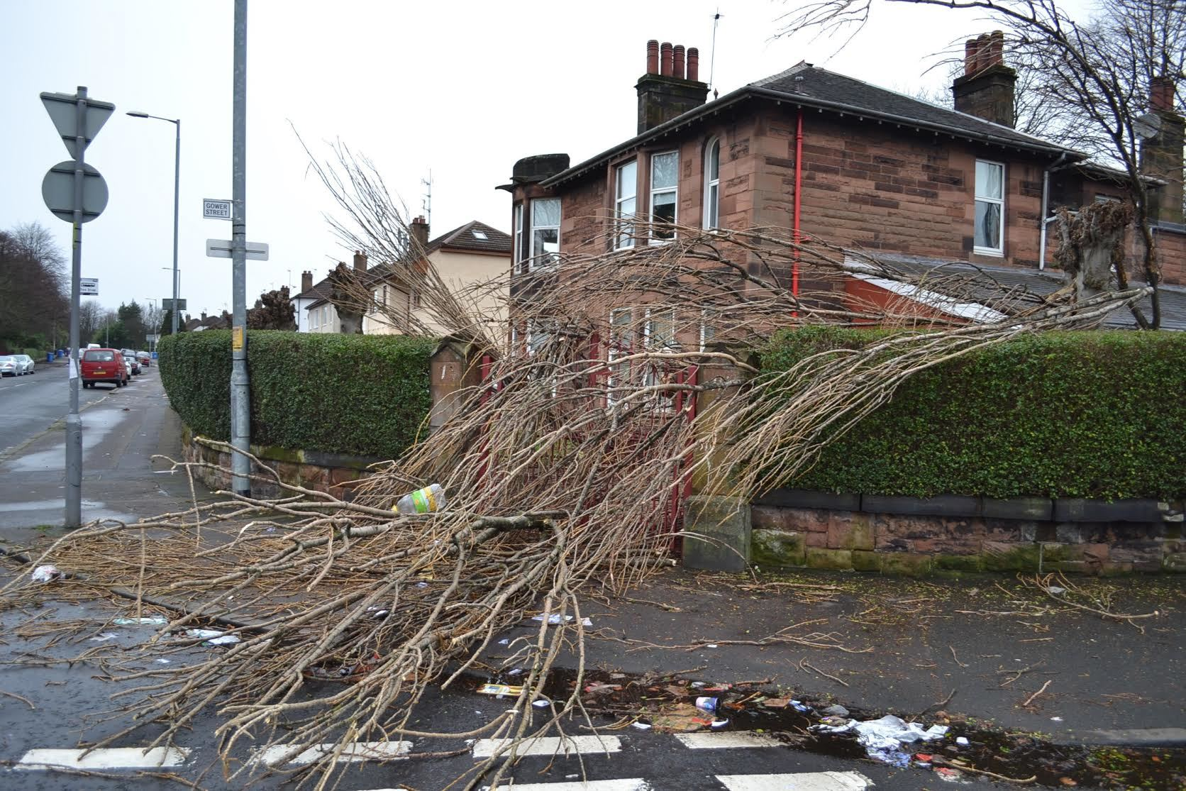 scotland weather  pictures show full extent of storms