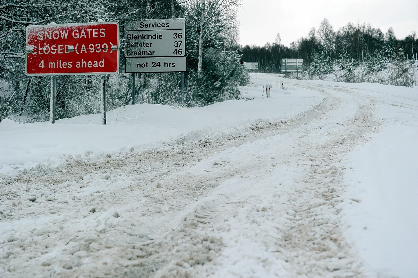 Winter weather is affecting roads