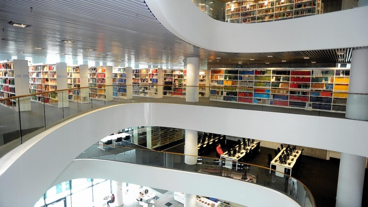 Aberdeen University's Sir Duncan Rice Library interior