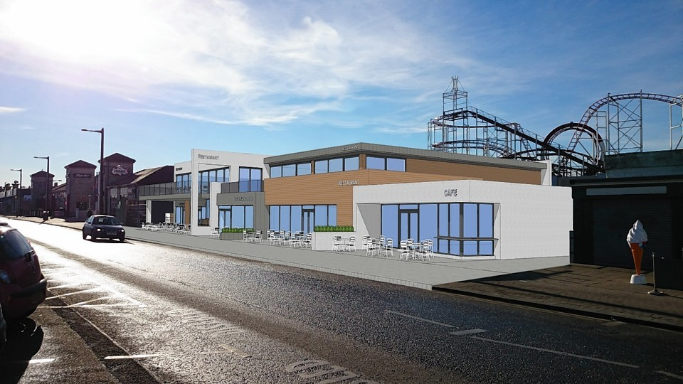 Artist impression of plans for the new Hornblowers restaurant at Aberdeen beach