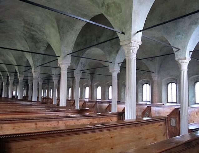 The 15th century Biblioteca Malatestiana, italy