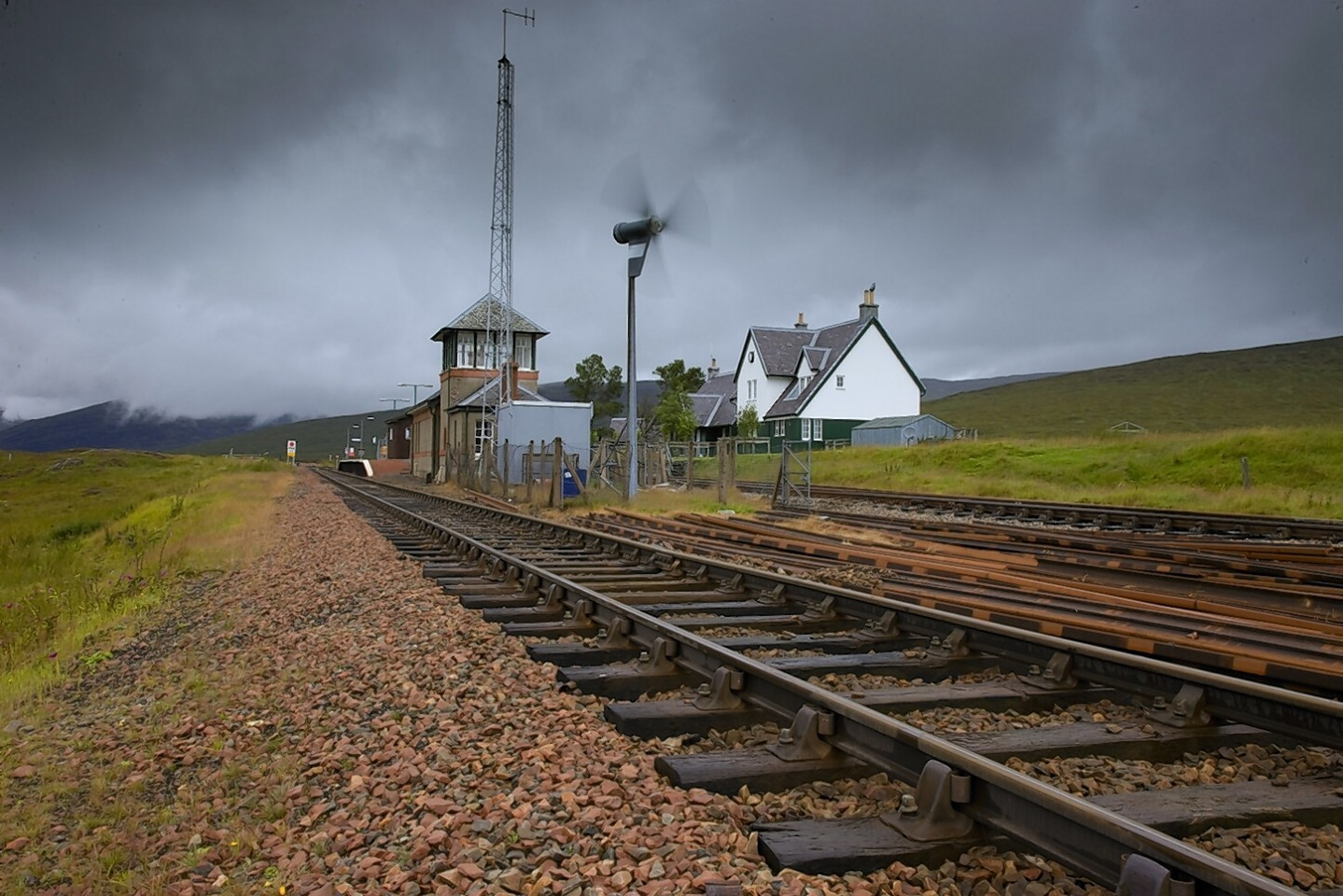 Corrour Station on the West Highland Line