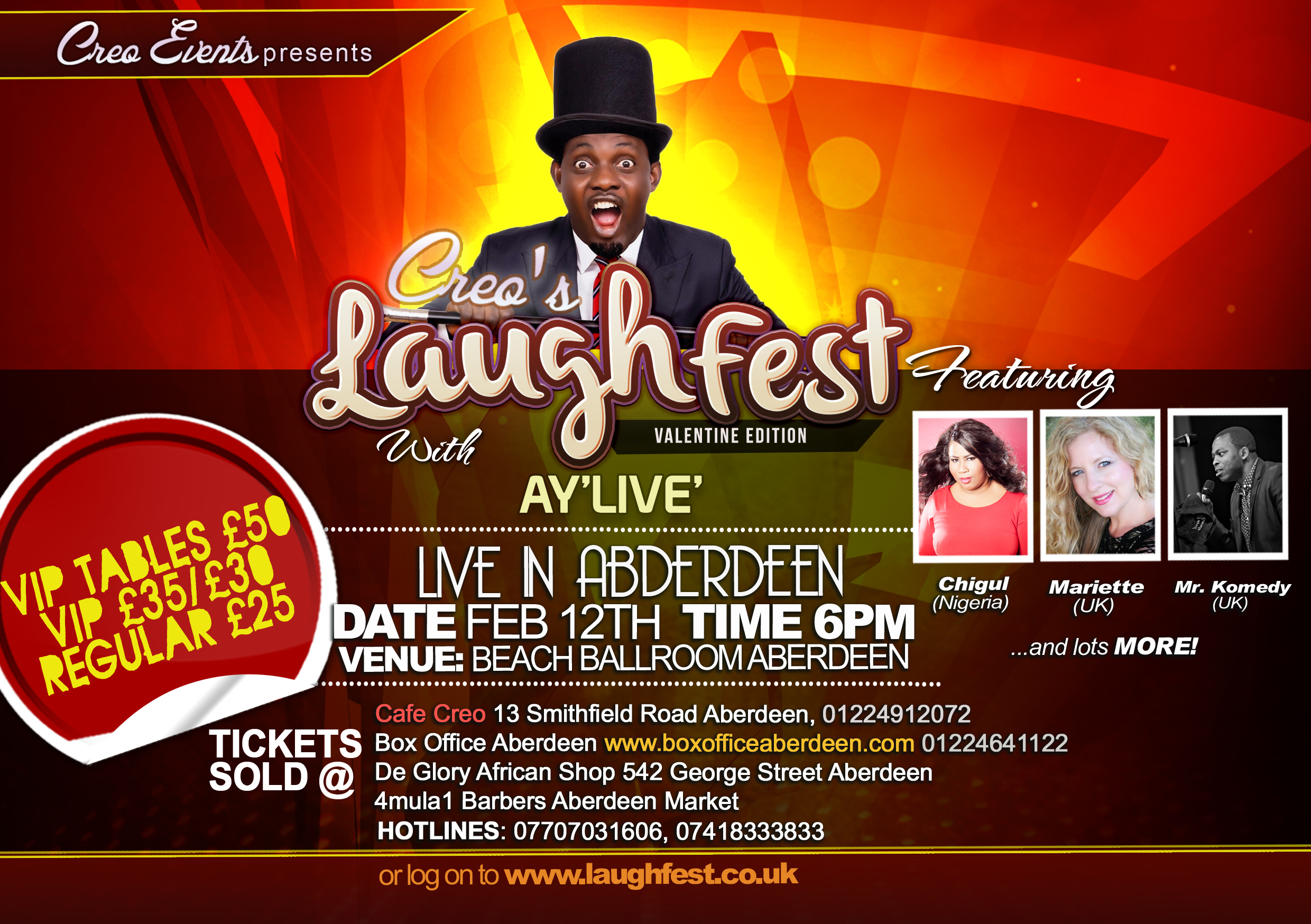 Creo's Laughfest 2015 Feb 12