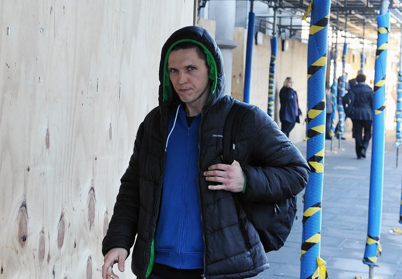 Daniel Koterbski, who tried to steal £20,000 of jewellery from Northern Diamond, Aberdeen