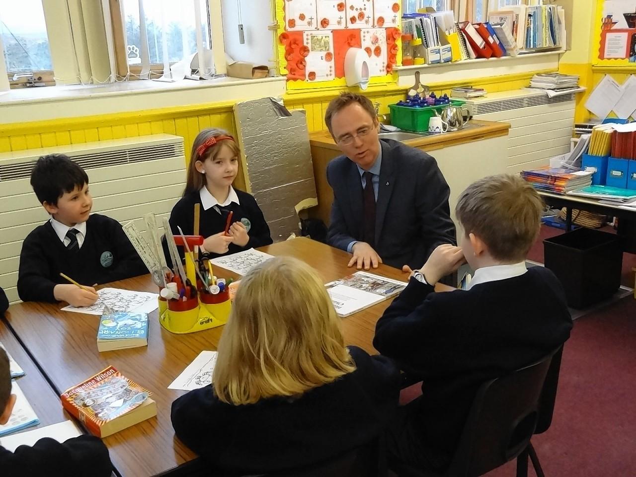 Minister Allan Breasclete School