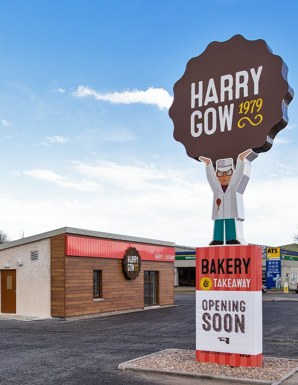 The new Harry Gow premises in Elgin which is due to open early March