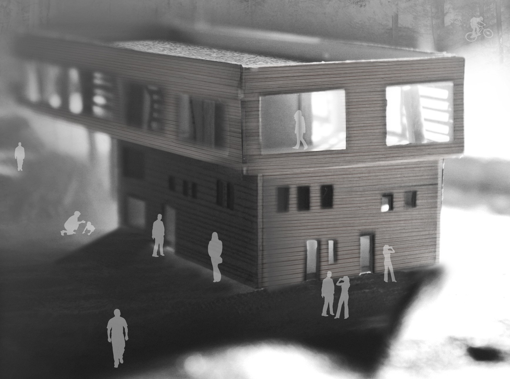 Second year student Johanna Kleesattel's design for a potential trail centre