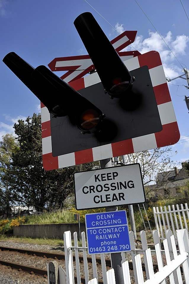 The community has long campaigned for safety barriers at Delny level crossing
