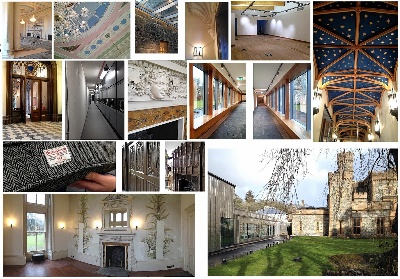 Interior shots of the renovated Lews Castle