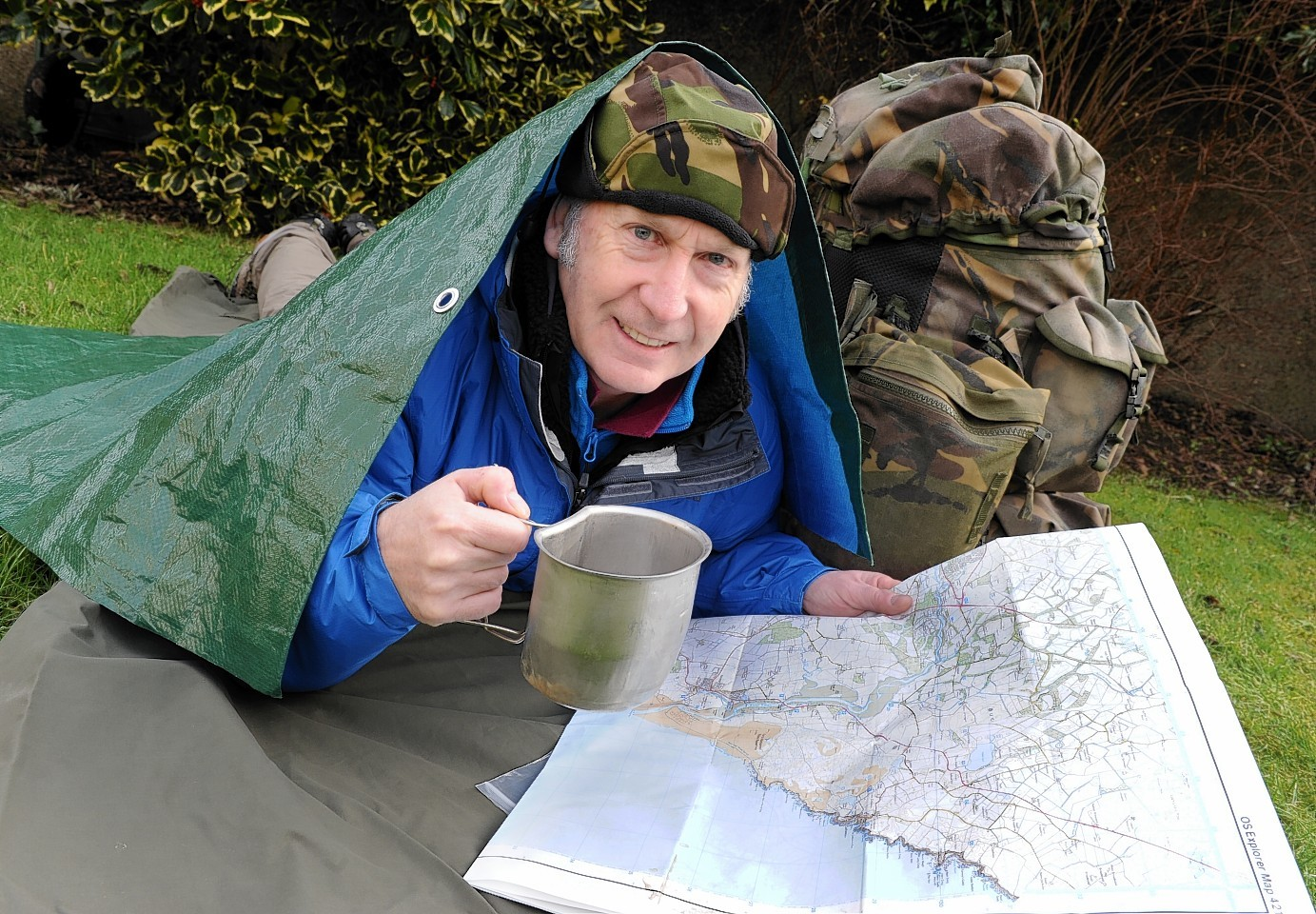 Lionel Holmes is camping out to raise funds for CHAS