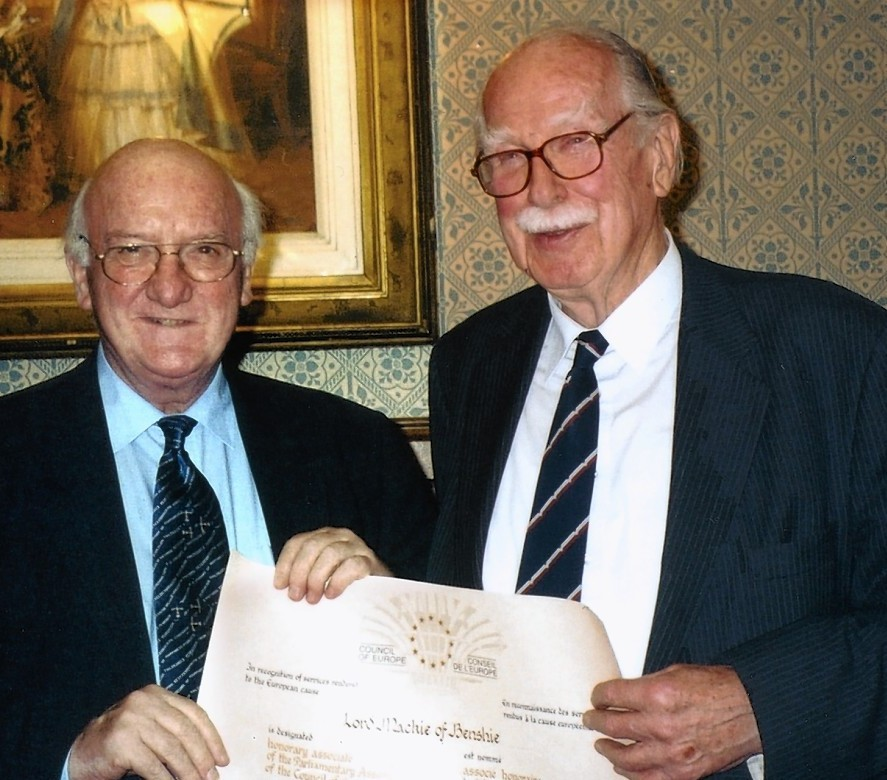 Lord Mackie of Benschie (right)