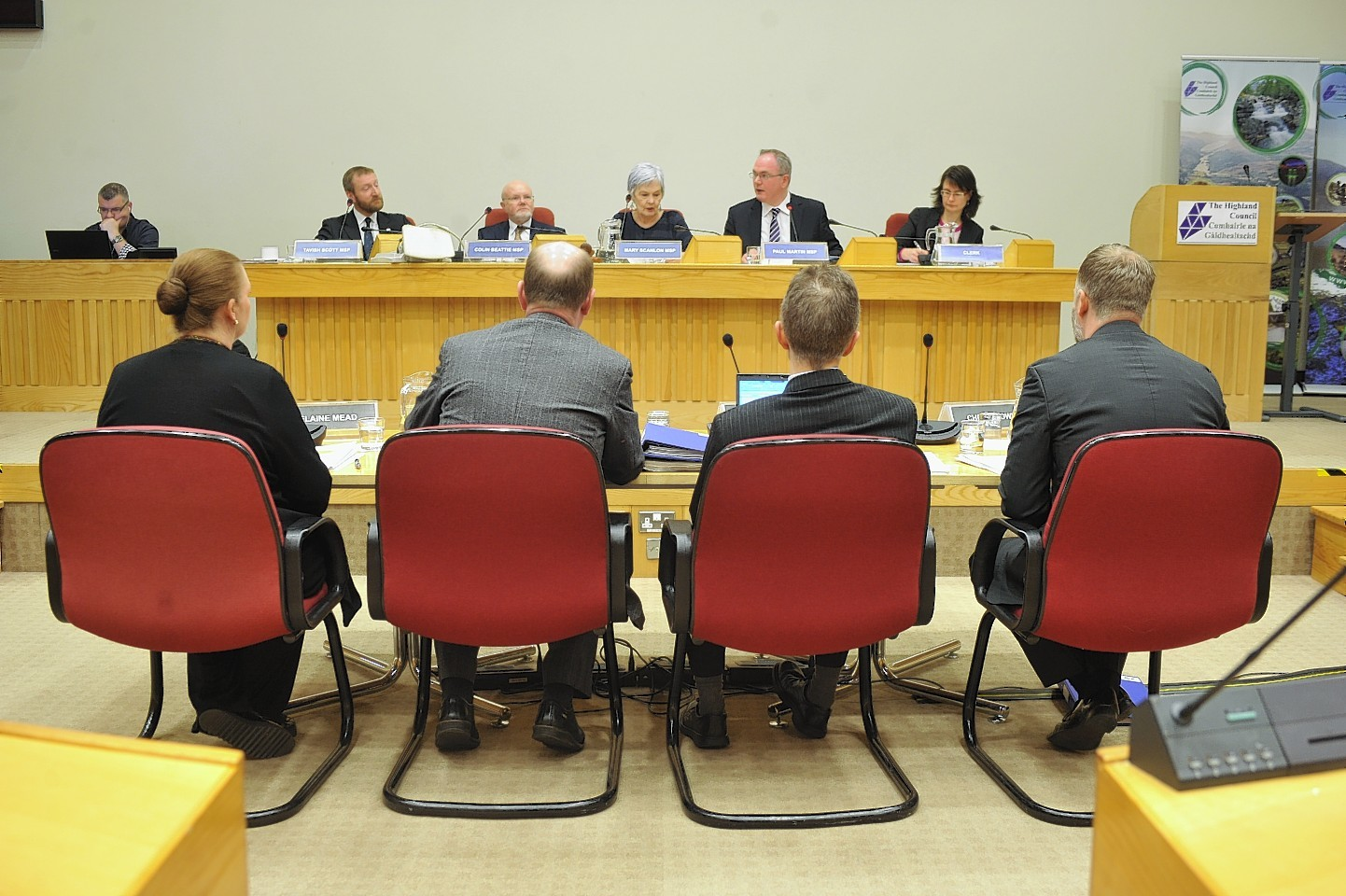 Representatives of NHS Highland face the Public Audit Committee