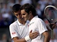 Novak Djokovic, left, and Roger Federer will meet in the Dubai final on Saturday
