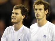 Jamie, left, and Andy Murray last teamed up in Davis Cup doubles in 2011
