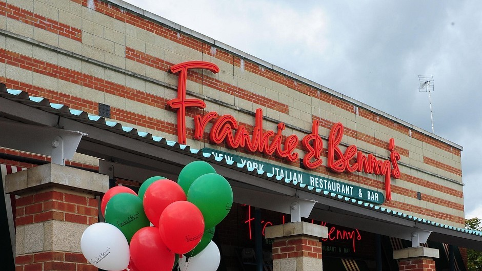 The Restaurant Group owns Frankie and Benny's and Garfunkels brands