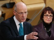 John Swinney said the policy agenda in the Scottish Parliament is largely a progressive one