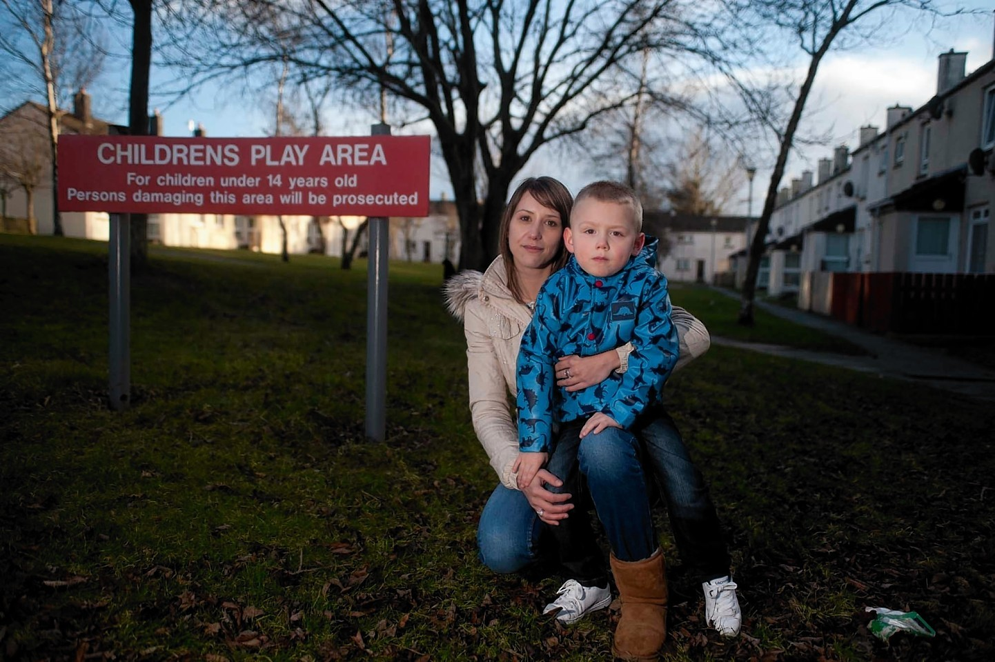 Melanie and son Michael Robertson at the park
