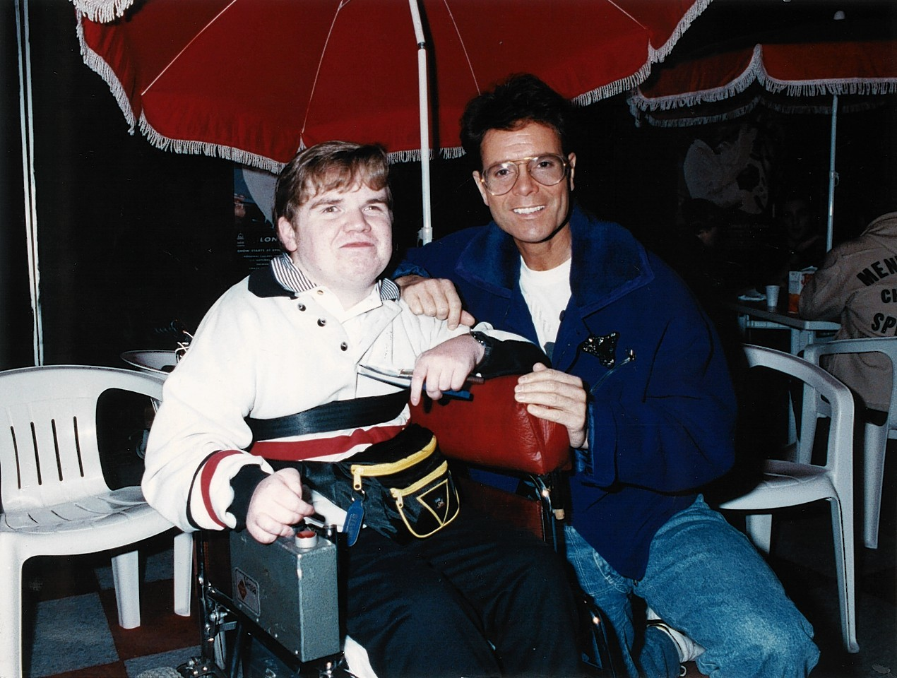 Steven with Cliff Richard
