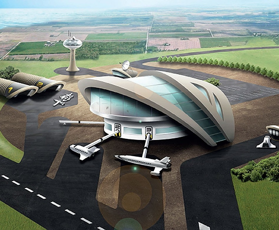 Image of how the spaceport may look