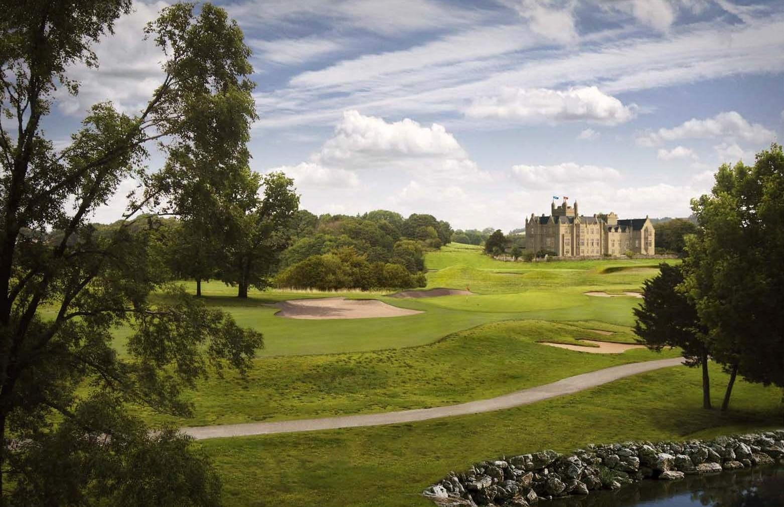 An artist's impression of the first hole at the Ury Estate golf course