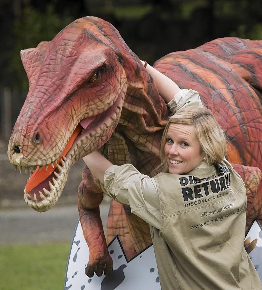 Velma the velociraptor is to tour Edinburgh