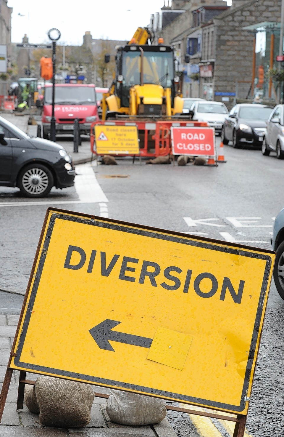 West High Street, Inverurie is to be closed off in sections for up to three months