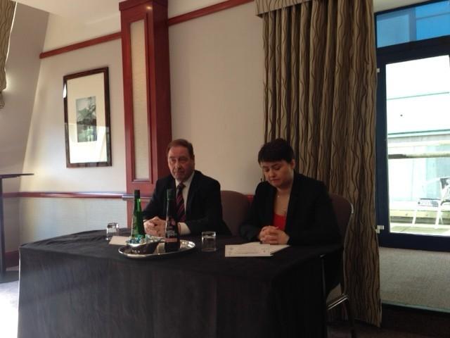 Ruth Davidson and Iain McMillan