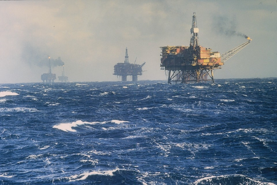 Stormy conditions in the North Sea