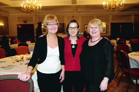 Lesley Ritchie, Fiona Thomson and Sylvia Mair