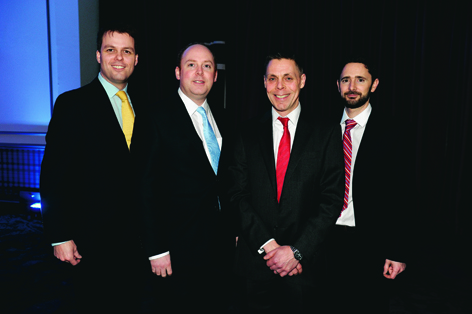 Iain Brotchie, Luis McArther, Paul Mills and Damian Carre