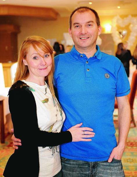 Shona Lynn with her fiancee Scott Strachan