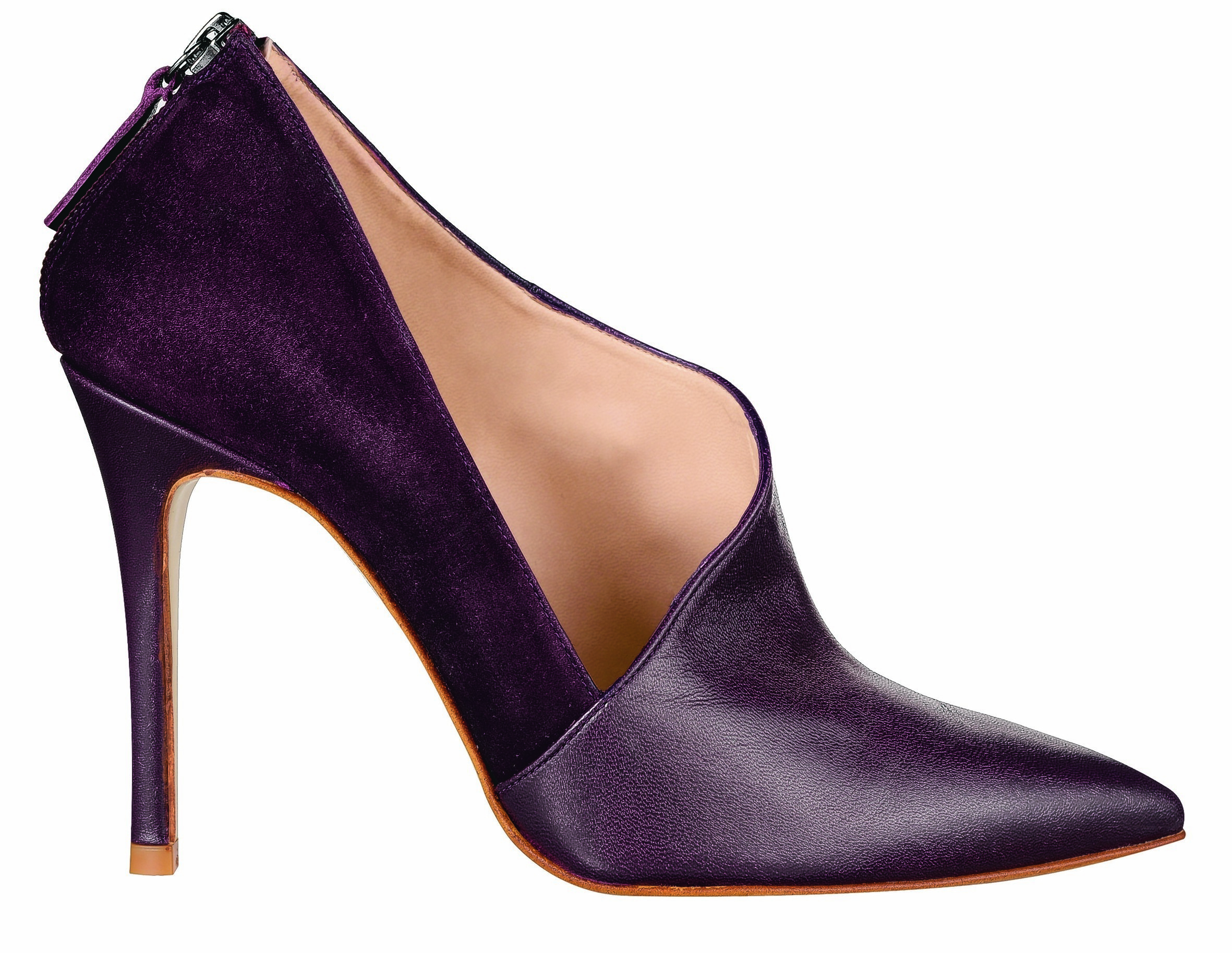 Wallis Berry Leather Asymmetric Cut Show Boot, currently reduced to £66.50 from £95