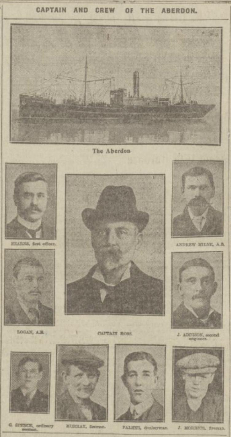 Aberdeen steamer, the SS Aberdon - built by the city's Alexander Hall and Sons in 1911 - was sunk near the coast at St Abb's on March 9, 1915 by the U-12.