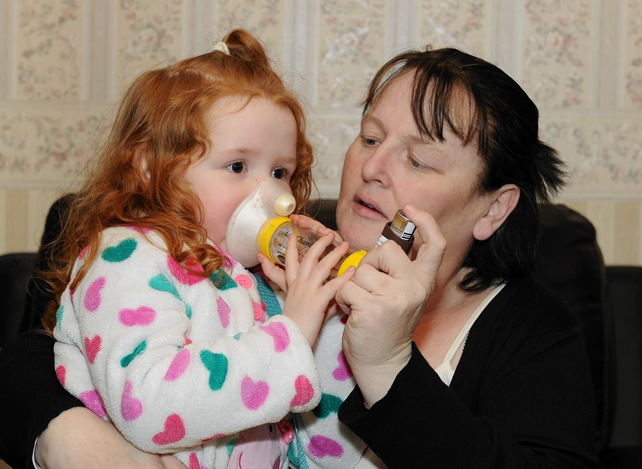 Amanda Ross with daughter Sophie, 4 at home at Aberchirder