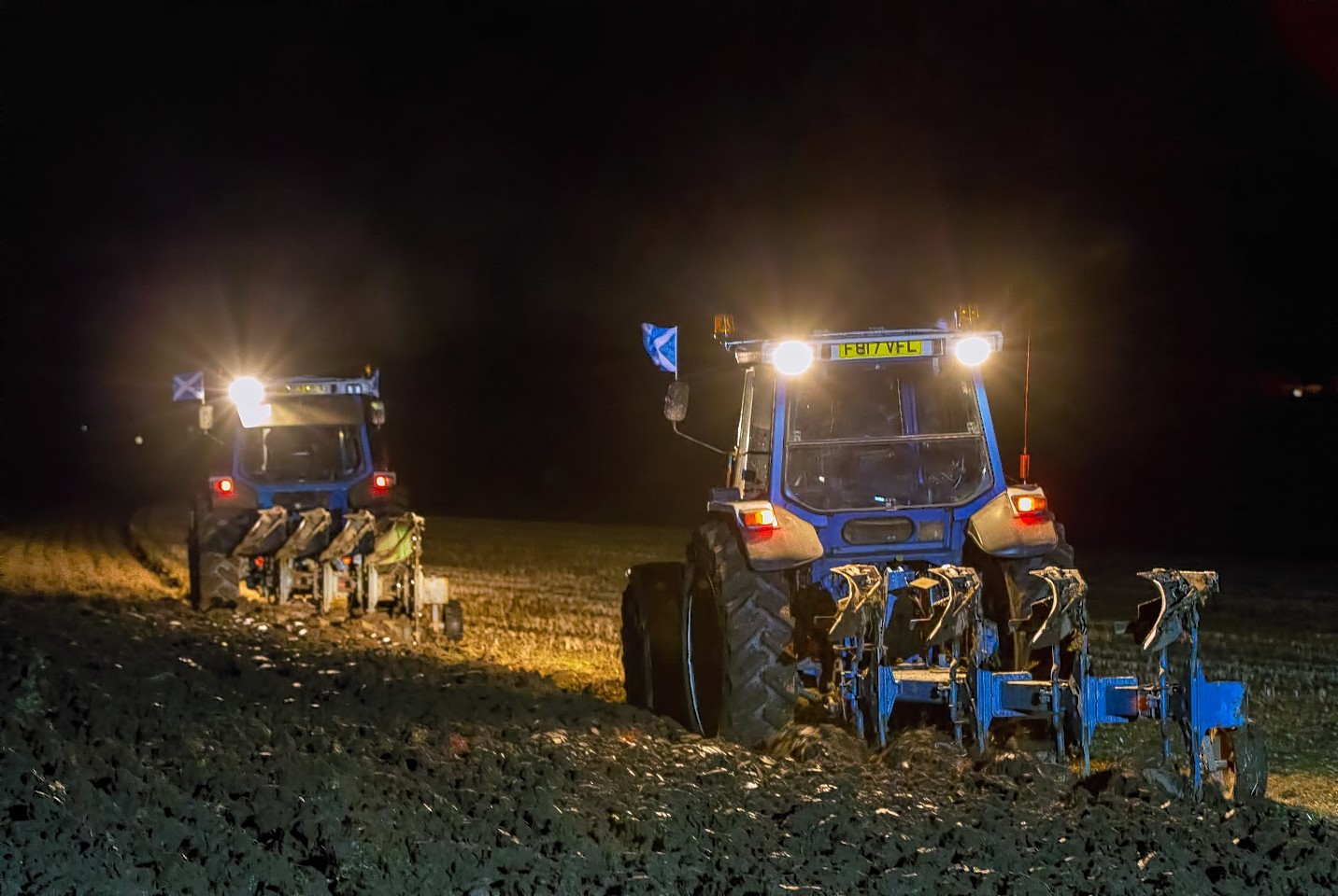 Charity ploughing challenge