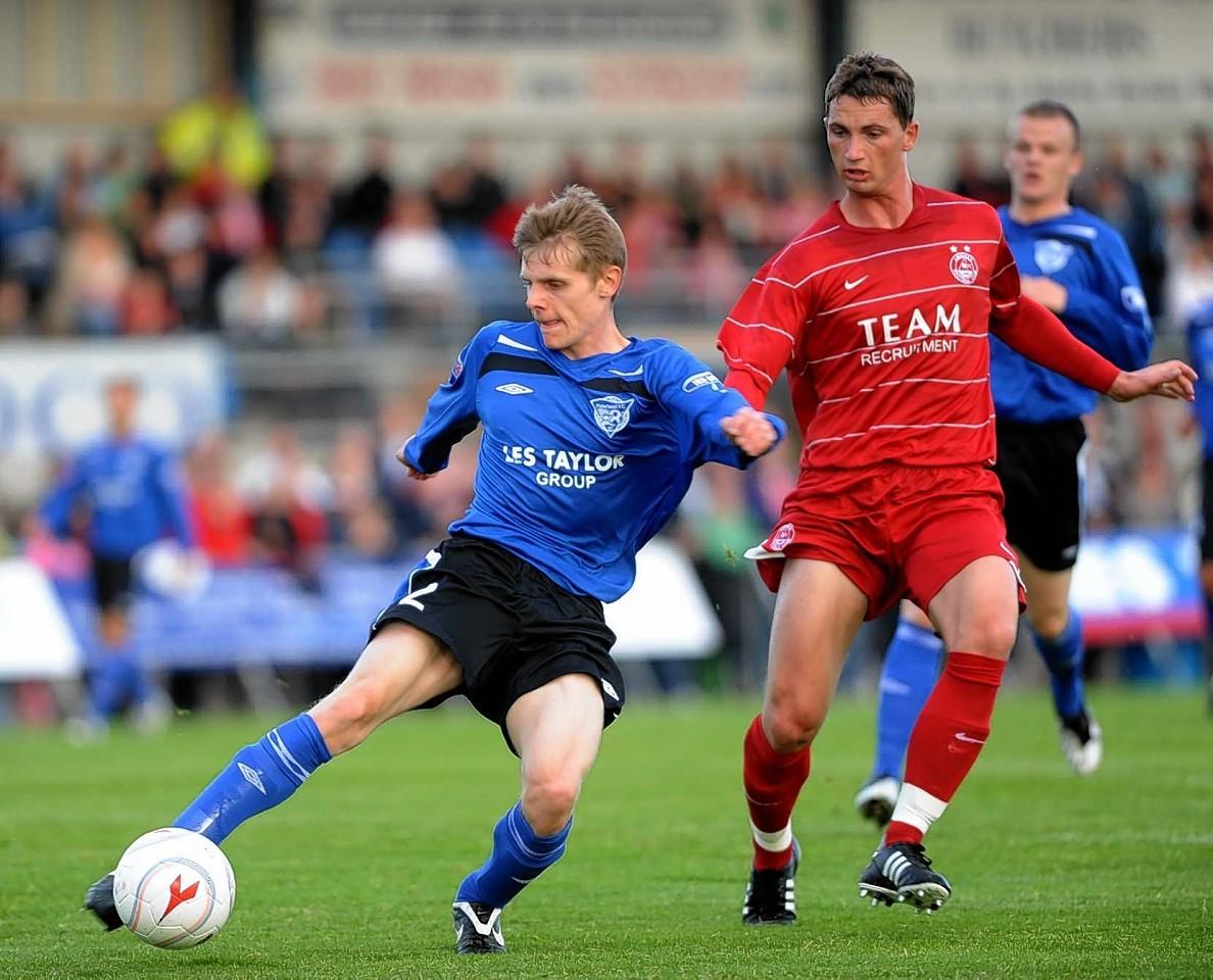 Gary Macdonald in his Aberdeen playing days