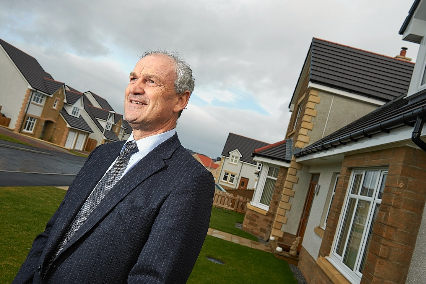 George Fraser, Chief Exec of Tulloch Homes, at one of their Inverness developments.