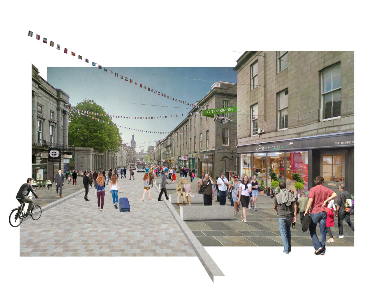 Pictures show plans to reinvent Aberdeen city centre
