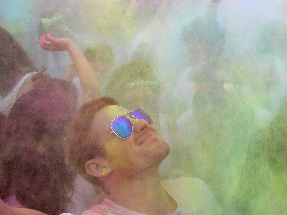 Edinburgh's Holi festival last year