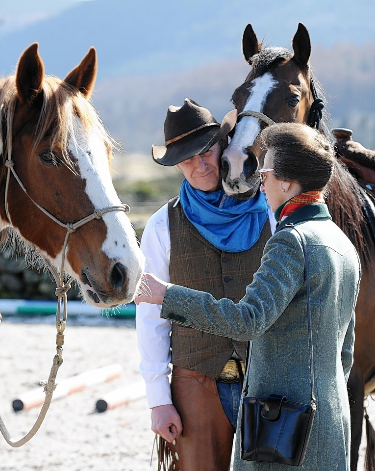 Princess Anne visits Horseback UK, near Aboyne