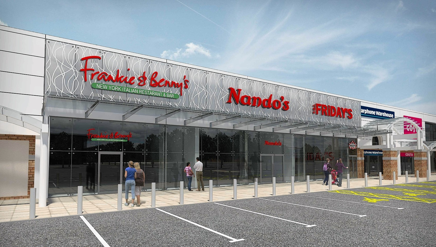 Artists impression of the restaurant plan for Inverness retail park