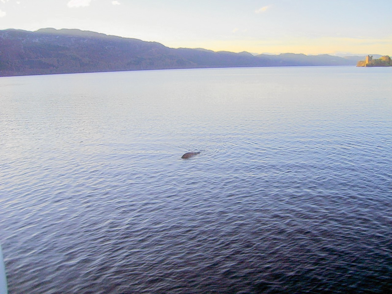 This strange picture was taken on Loch Ness in 2013