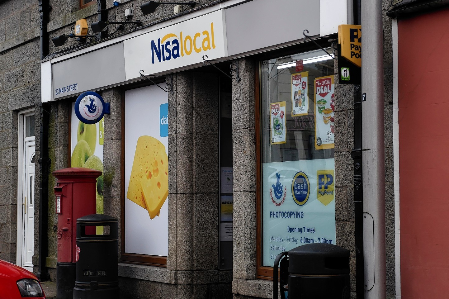 The Nisa shop was robbed in the early hours of Thursday morning