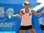 Heather Watson overcame Evgeniya Rodina to reach the second round in Miami