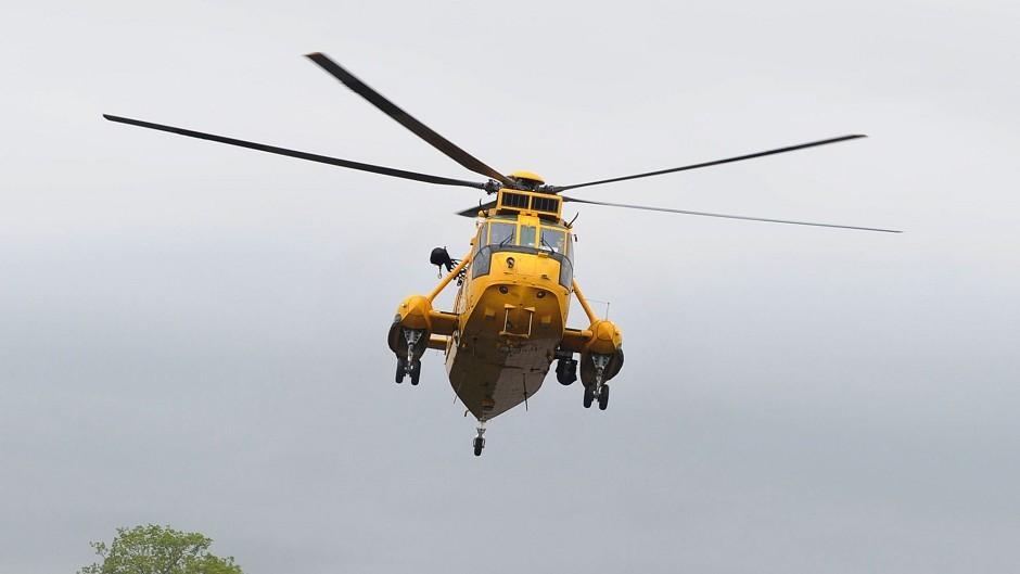Coastguard rescue copter