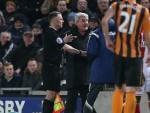 Steve Bruce, second left, and Gus Poyet, blue jacket, clashed on Tuesday night